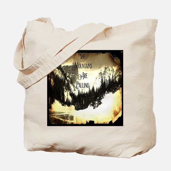 vintage mountains are calling Tote Bag