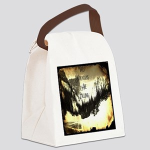 vintage mountains are calling Canvas Lunch Bag