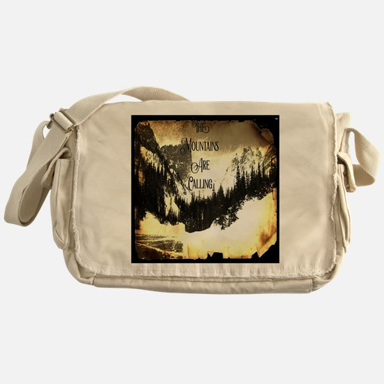 vintage mountains are calling Messenger Bag
