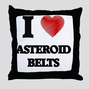 I love Asteroid Belts Throw Pillow