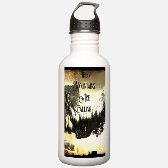 vintage mountains are Water Bottle