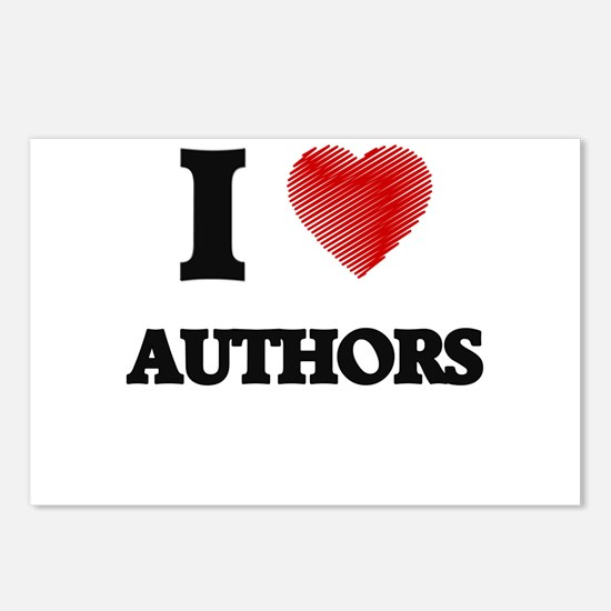 I love Authors Postcards (Package of 8)