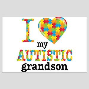 Autistic Grandson Large Poster