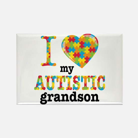 Autistic Grandson Rectangle Magnet