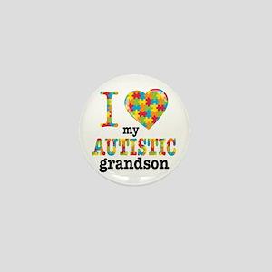 Autistic Grandson Mini Button