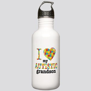 Autistic Grandson Stainless Water Bottle 1.0L