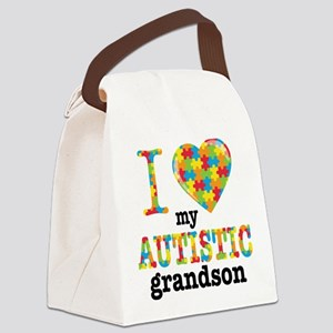 Autistic Grandson Canvas Lunch Bag