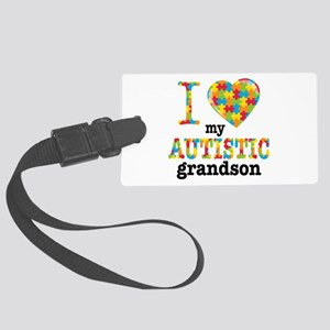 Autistic Grandson Large Luggage Tag