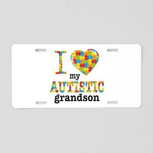 Autistic Grandson Aluminum License Plate