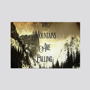 vintage mountains are calling Magnets