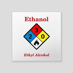 Ethanol MSDS Label Sticker