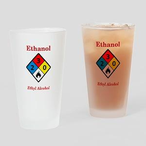 Ethanol MSDS Label Drinking Glass