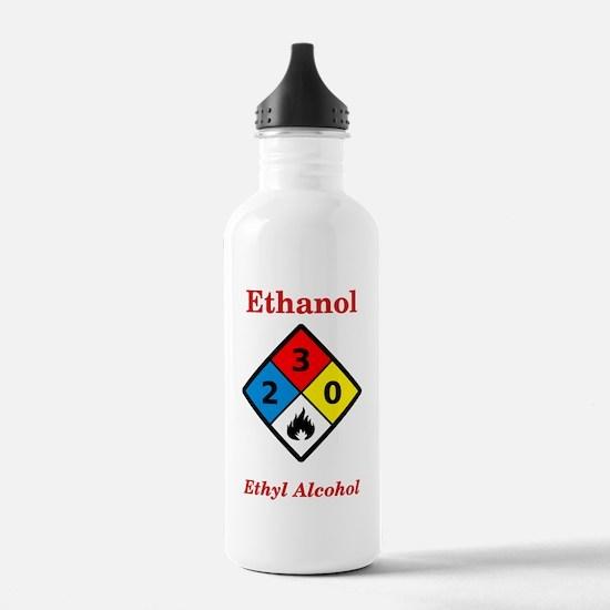 Ethanol MSDS Label Water Bottle