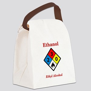 Ethanol MSDS Label Canvas Lunch Bag