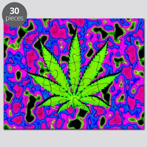 Psychedelic Pot Leaf Puzzle