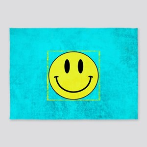 SMILEY SMILEY SMILEY 5'x7'Area Rug