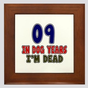 Funny 09 Years Birthday Designs Framed Tile