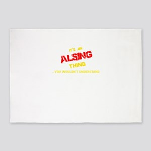 It's ALSING thing, you wouldn't und 5'x7'Area Rug