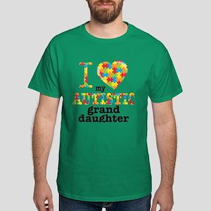 Autistic Granddaughter Dark T-Shirt