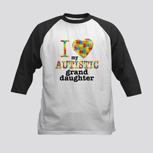 Autistic Granddaughter Kids Baseball Jersey