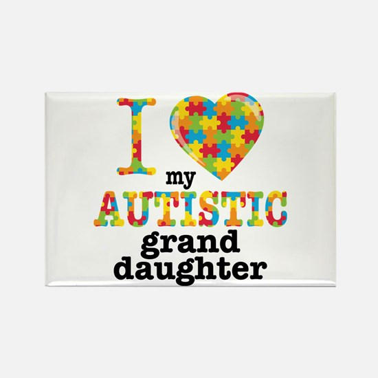 Autistic Granddaughter Rectangle Magnet