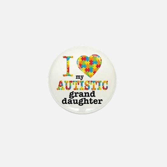 Autistic Granddaughter Mini Button