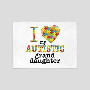 Autistic Granddaughter 5'x7'Area Rug