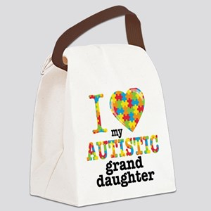 Autistic Granddaughter Canvas Lunch Bag
