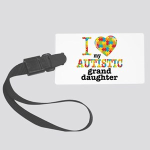 Autistic Granddaughter Large Luggage Tag