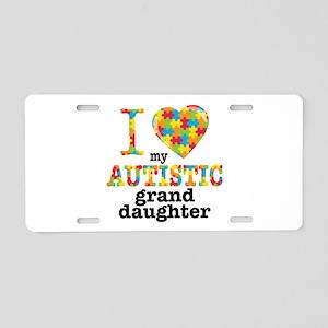 Autistic Granddaughter Aluminum License Plate