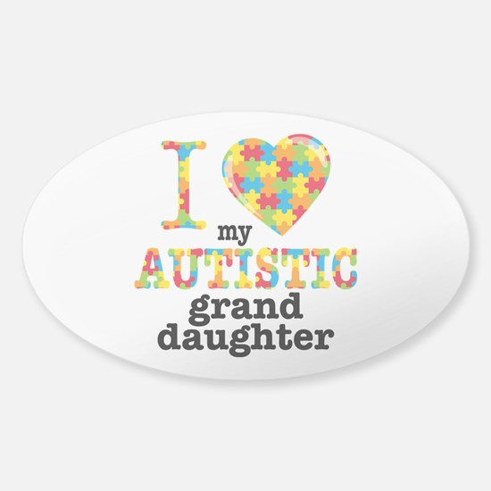 Autistic Granddaughter Sticker (Oval)