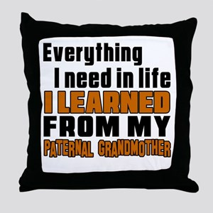 I Learned From My Son Throw Pillow