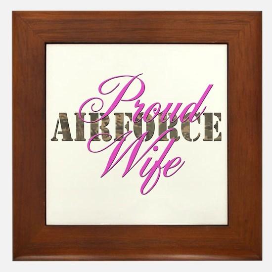 Proud Air Force Wife ABU Framed Tile