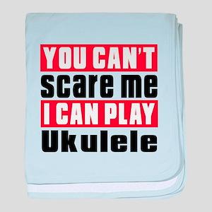 I Can Play Ukulele baby blanket