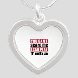 I Can Play Tuba Silver Heart Necklace
