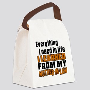 I Learned From My Mother-in-law Canvas Lunch Bag