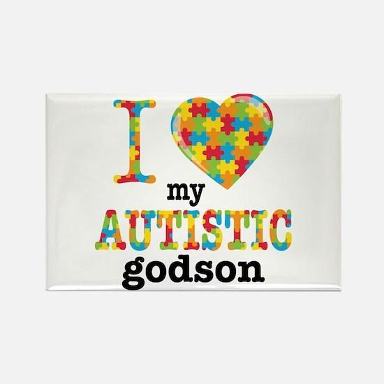 Autistic Godson Rectangle Magnet