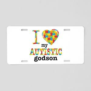 Autistic Godson Aluminum License Plate