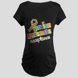 Autism Acceptance Maternity Dark T-Shirt