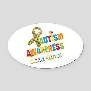 Autism Acceptance Oval Car Magnet