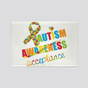 Autism Acceptance Rectangle Magnet
