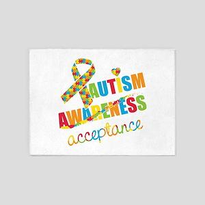 Autism Acceptance 5'x7'Area Rug