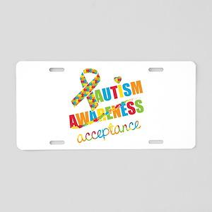 Autism Acceptance Aluminum License Plate