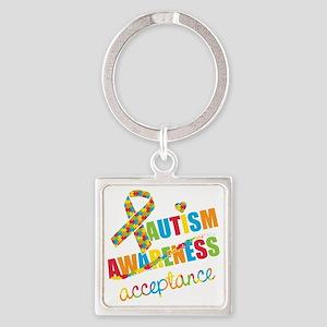 Autism Acceptance Square Keychain