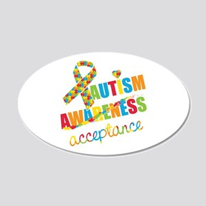 Autism Acceptance 20x12 Oval Wall Decal