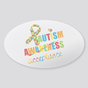 Autism Acceptance Sticker (Oval)