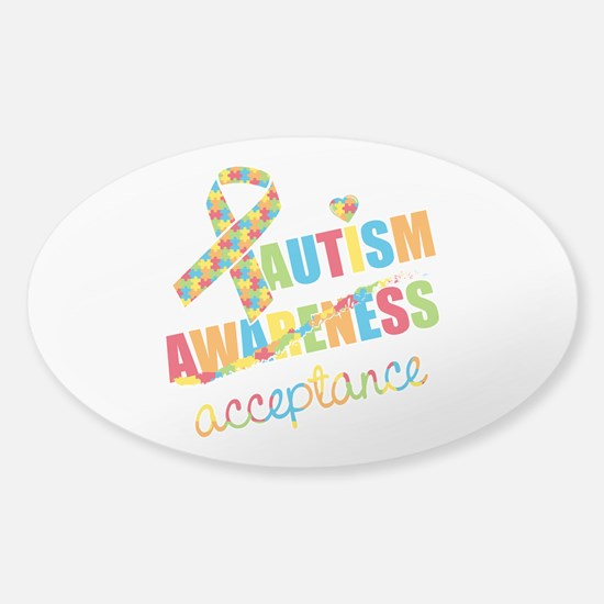 Autism Acceptance Sticker (Oval)