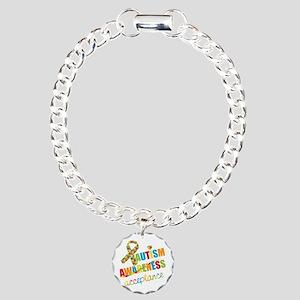Autism Acceptance Charm Bracelet, One Charm