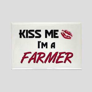 Kiss Me I'm a FARMER Rectangle Magnet