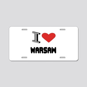 I Love Warsaw City Aluminum License Plate